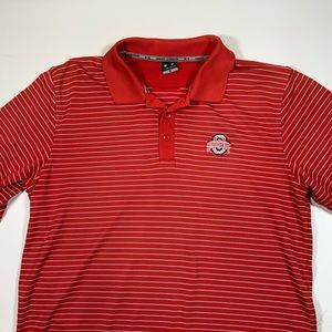 Ohio State Red and Silver Under Armour Polo Shirt